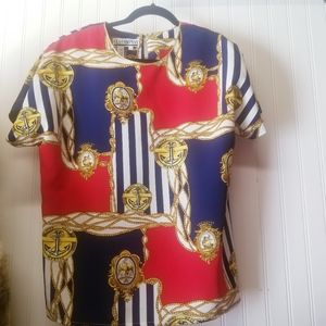 Vintage 90's Gold and Red Marine Top